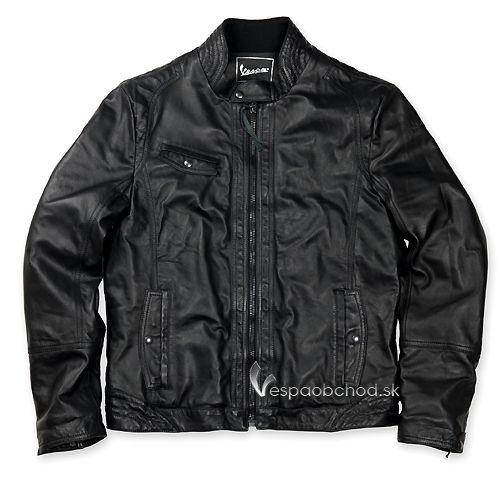 Pánska kožená bunda Vespa 946 čierna 1a5ccbda6fc