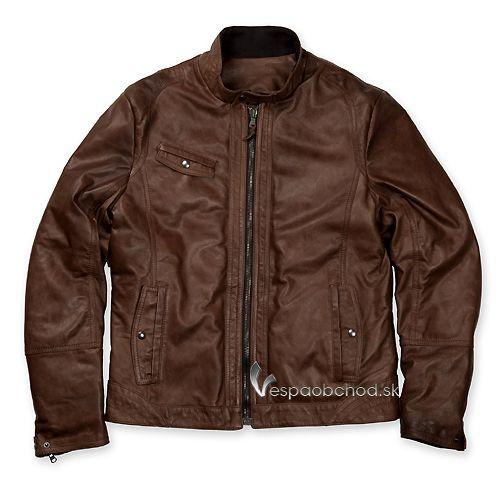 Pánska kožená bunda Vespa 946 čierna 41e6264fad1