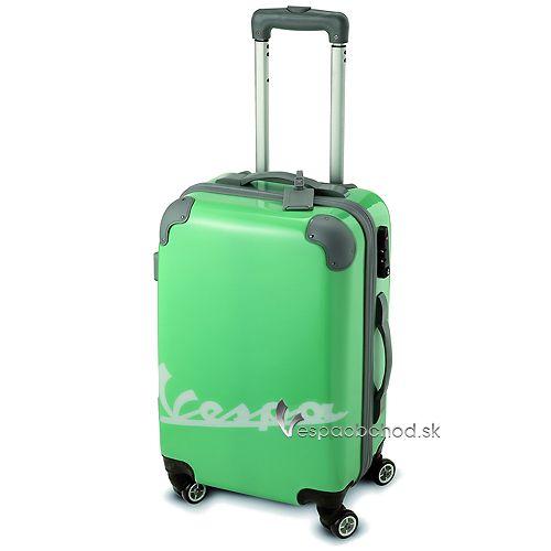 6075b7c151da2 Plastový cestovný kufor Vespa zelený